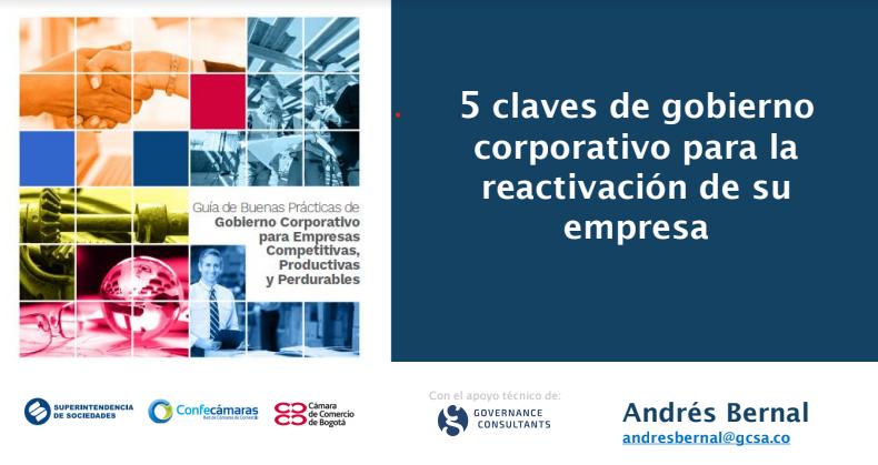 5 claves de gobierno corporativo para la reactivación